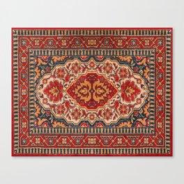 Ornate geometric tribal rug design Canvas Print