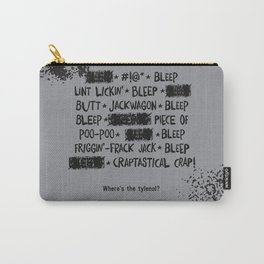 Bleepin' Words Carry-All Pouch