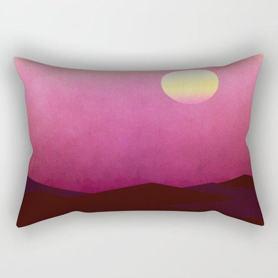 Setting Sun Over The Desert Rectangular Pillow