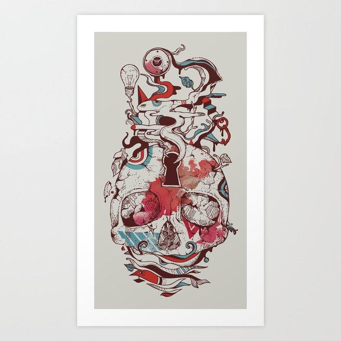 Landscape of an Open Mind Art Print