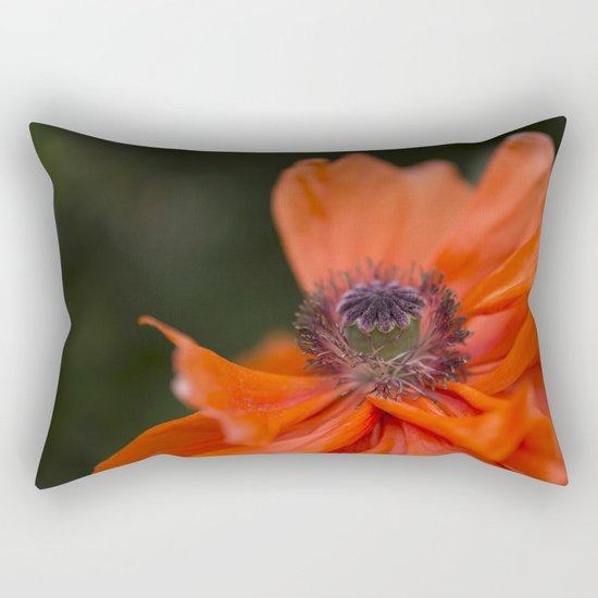 Poppyqueen Poppy Flower Flowers Poppies Rectangular Pillow