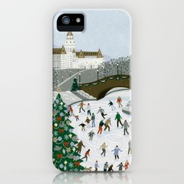 Ice skating pond iPhone Case