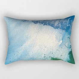 Environmental Blue and Green Painting # 7 Rectangular Pillow