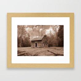 Carter Shields Cabin in sepia Framed Art Print