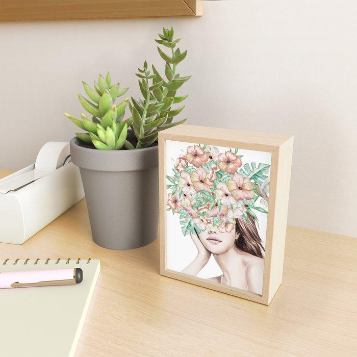 She Wore Flowers in Her Hair Island Dreams Framed Mini Art Print