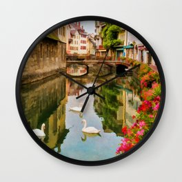 Annecy France Wall Clock