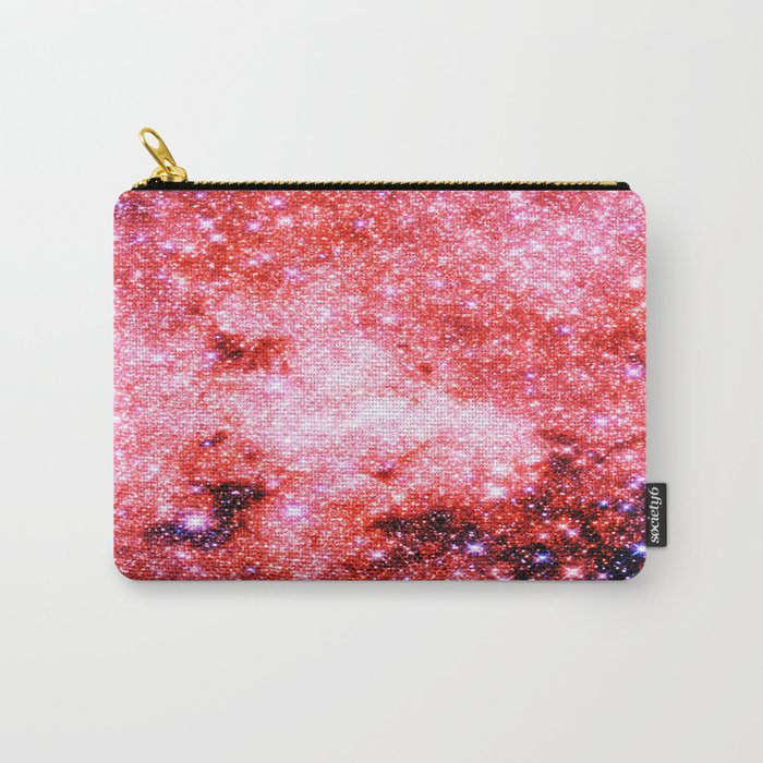 GALaXY Sparkle Stars Pink Coral Lavender Carry-All Pouch