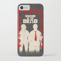 shaun of the dead iPhone & iPod Cases featuring Shaun Of The Dead by Bill Pyle