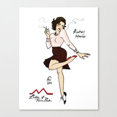 Audrey Horne Pin-up #2 Canvas Print