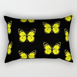 Yellow Butterflies - First Sign of Spring Rectangular Pillow