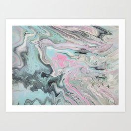 Space Clouds Breaking Art Print