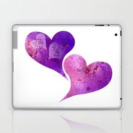 Purple and Pink hearts Laptop & iPad Skin