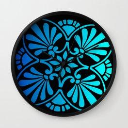 Greek Design Blue Ombre Wall Clock
