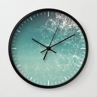 physics Wall Clocks featuring Fresh summer abstract background. Connecting dots, lens flare by AMULET