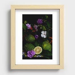 Citrus Blooms Recessed Framed Print