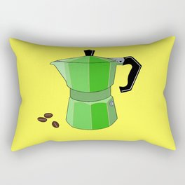 Green Rainbow Espresso Rectangular Pillow