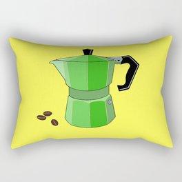 Green Rainbow Espresso Rectangular Pillow