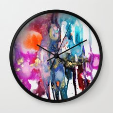 alive and walking (abstract) Wall Clock