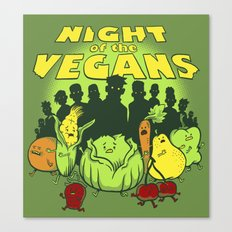 Night of the Vegans Canvas Print
