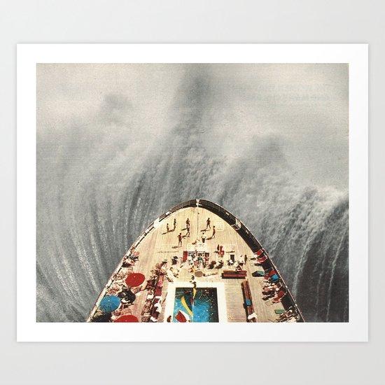 a great big wave (to wash it all away) - collab with sammy slabbinck Art Print