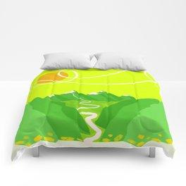 Minimalist Mountains Comforters