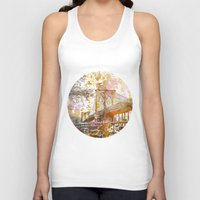 brooklyn bridge Tank Tops featuring Brooklyn Bridge by LebensART