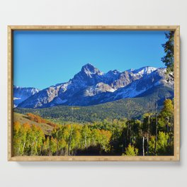 Mount Sneffels Colorado Serving Tray