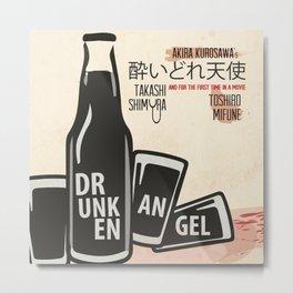 Drunken Angel, Akira Kurosawa, minimalist movie poster, Toshiro Mifune, japanese film, Yakuza Metal Print