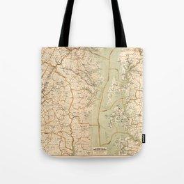 Automobile Map of Washington District (1909) Tote Bag