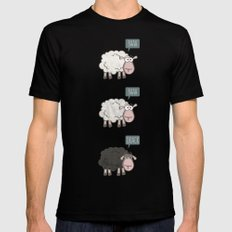 Rebel Sheep SMALL Black Mens Fitted Tee