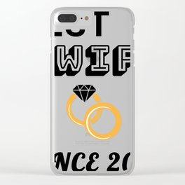 Wife 3rd Anniversary Gift, Women's Wedding Present Graphic Clear iPhone Case