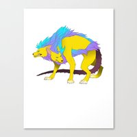 persona Canvas Prints featuring Persona - Orthrus by matcha-tiger
