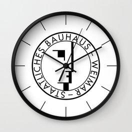 BAUHAUS LOGO / WHITE Wall Clock