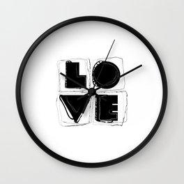 Dissonant Love Wall Clock