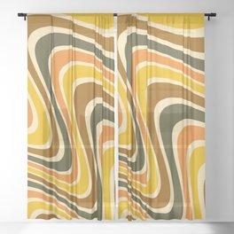 Sunset Retro 70s Wavy Sheer Curtain
