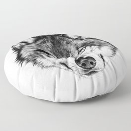 The Wolf Next Door Floor Pillow