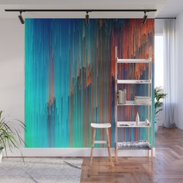 All About Us - Abstract Glitch Pixel Art Wall Mural
