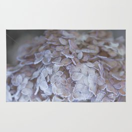 Frost Petals Of Hydrangea #decor buyart #society6 Rug