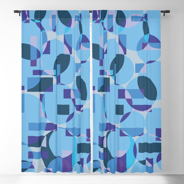 Single pattern of overlapping shapes Blackout Curtain