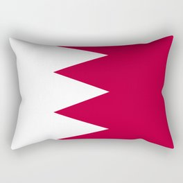 Bahrain flag emblem Rectangular Pillow