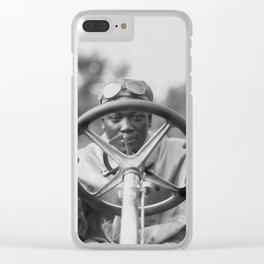 Jack Johnson Driving His Thomas Flyer Clear iPhone Case