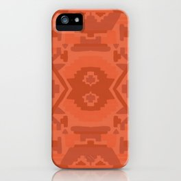Geometric Aztec in Chile Red iPhone Case