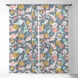 Koi Pond - Pink Sheer Curtain