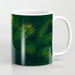 Close Up Of Evergreen Pine Leaves Coffee Mug