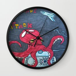 Panic in Space Wall Clock