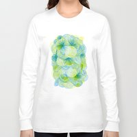 lime Long Sleeve T-shirts featuring Space lime by Marcelo Romero