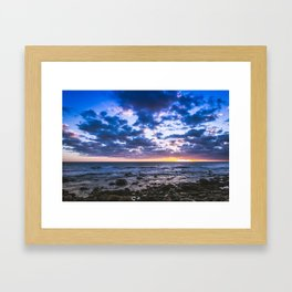 Sunset rock landscape Framed Art Print