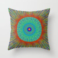 kaleidoscope Throw Pillows featuring Kaleidoscope  by BrucestanfieldartistPatterns