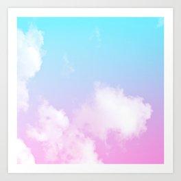 Pink Summer Clouds Art Print