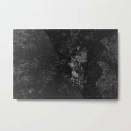 Luxury Black Marble Metal Print